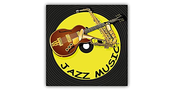 3/'/' or 5/'/' Jazz Music Vinyl Label Car Bumper Sticker Decal