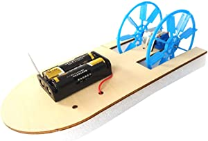 Thepass Kids Early Science Education Toy, DIY Electronic Assembly Boat Model Toy Scientific Experiment Toy for Kids Gifts, for Home, Office, School, Professional