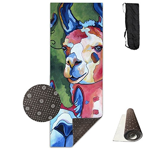 Oil Painting Sheep Yoga Mat - Advanced Yoga Mat - Non-Slip Lining - Easy To Clean - Latex-Free - Lightweight And Durable - Long 180 Width 61cm