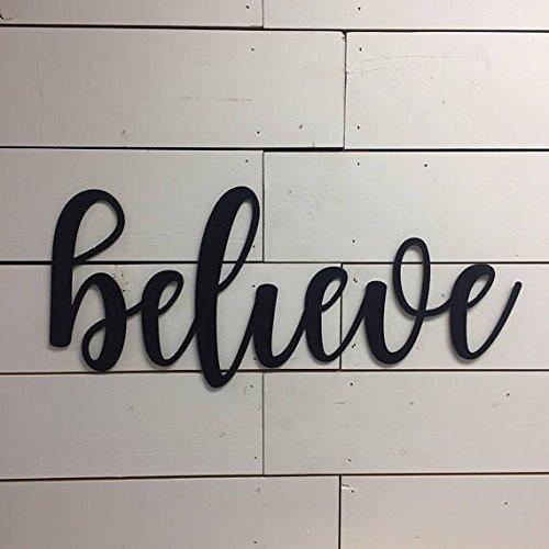 Believe Sign-Believe-Inspirational Sign-Wood Believe Sign-Christmas Decor