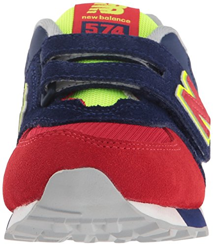 New Balance Kv574czy M Hook and Loop, Zapatillas Unisex Niños Azul / rojo