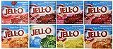 Jell-O Sugar Free Gelatin Sampler (Bundle of 8 Different Flavors .3-oz)