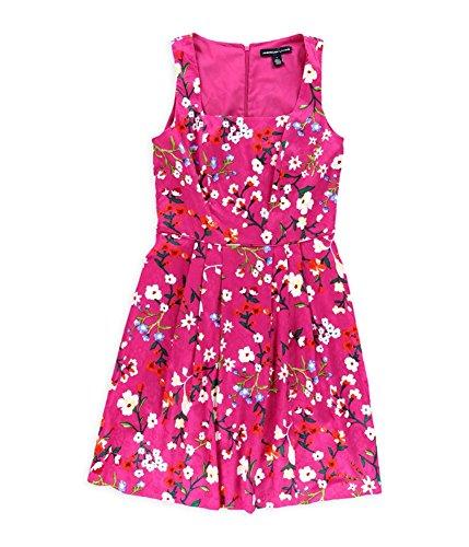 - American Living Womens Jacquard Floral Shift Dress, Pink, 6