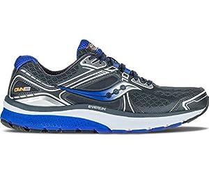 Saucony Men's Omni 15 Running Shoe, Grey/Blue/Silver, 9.5 M US