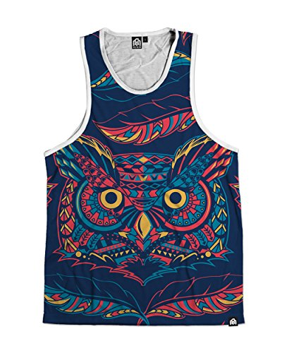 INTO THE AM Hoot Premium All Over Print - Animal Print Mens Shirts