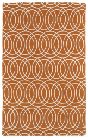 Kaleen Rugs Revolution Collection REV02-89 Orange Hand Tufted 2' x 3' Rug from Kaleen Rugs