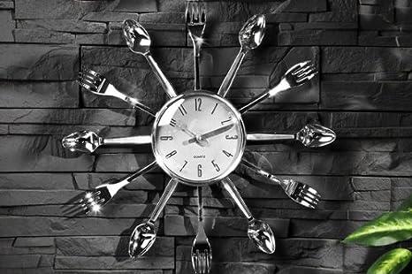 Original reloj de pared SPOON TIME reloj cubiertos con mango de plata: Amazon.es: Juguetes y juegos