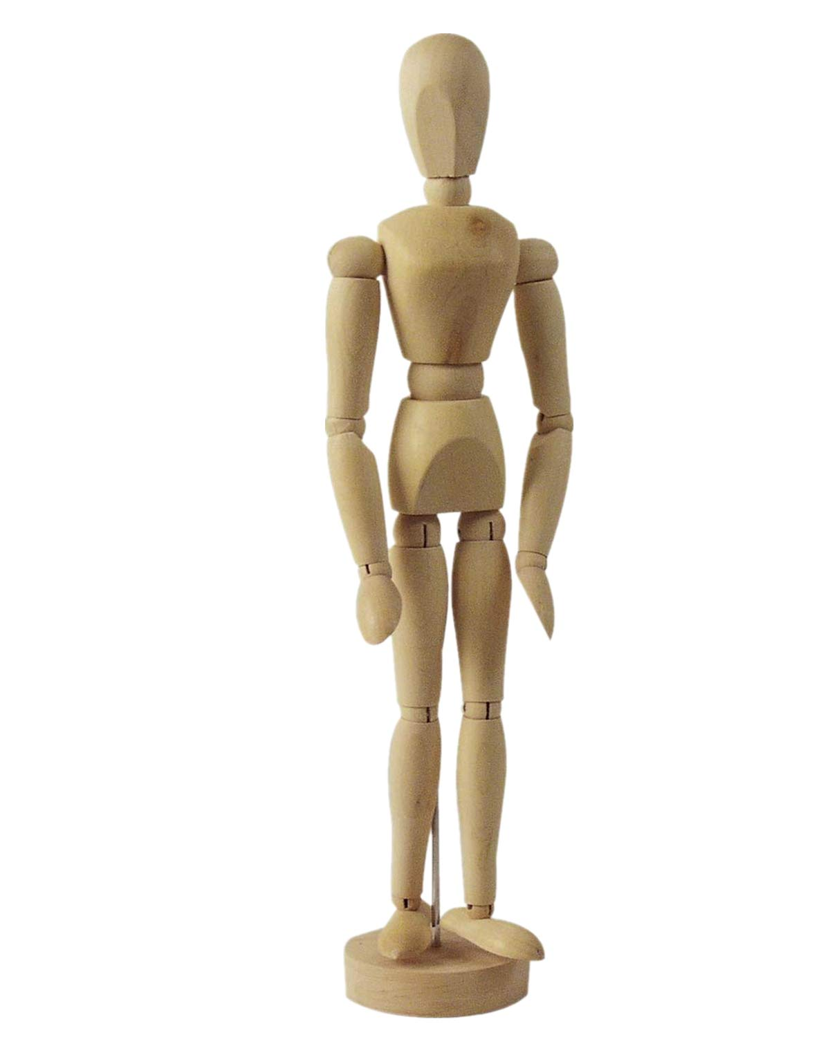 Drawing Manikin Wooden Mannequin Wood Artist Figure Doll Model with Flexible Posable Joints for Sketching Charcoal Home Office Desk Decoration Children Toys Gift 12''Male HOMLICO