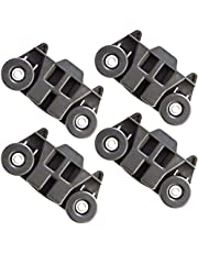 W10195416 New Upgraded Metal Axles Dishwasher Wheel Lower Rack Replacement Parts for Kitchen Aid Whirlpool Kenmore Kitchenaid W10195416V, AP5983730, PS11722152, W10195416VP (4 Pack)