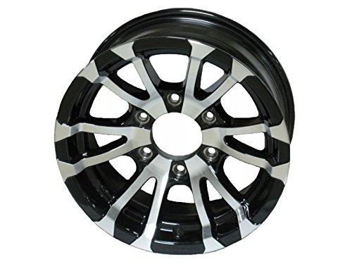 - Aluminum Boat Camper Trailer Rim Wheel 6 Lug 15 in. Avalanche V-Spoke/Black