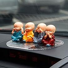 4pcs Cute KongFu Monk Car Interior Display Decoration Car Seat Ornament Car Home Decor Gift (B)