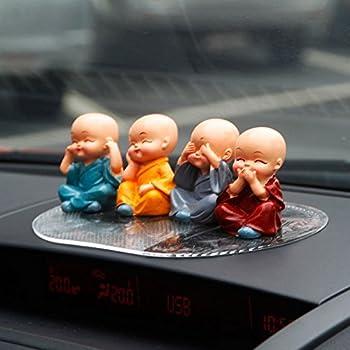 4pcs Cute Kongfu Monk Car Interior Display Decoration Car Seat Ornament Car Home Decor Gift B