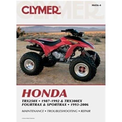amazon com 93 06 honda trx300ex clymer service manual automotive rh amazon com Honda TRX 300 Parts Diagram Honda TRX 300 Parts