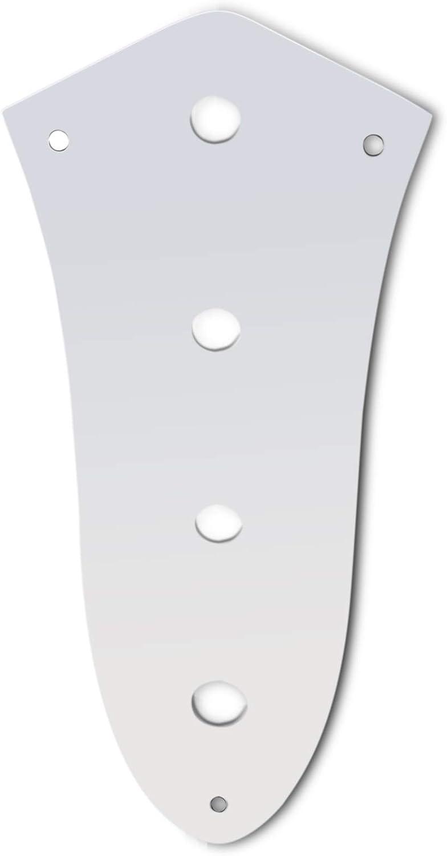 Genuine Fender Chrome 4-Hole Jazz//J-Bass Control Plate Cover w// Mounting Screws