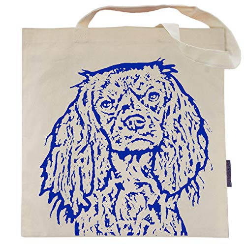 - Cavalier King Charles Tote Bag - Charlie the Cavalier - by Pet Studio Art