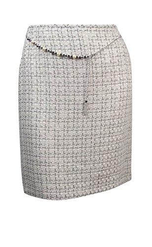 Tahari Women's Petite Belted Tweed Boucle Skirt (16P, Ivory White/Black) (Belted Tweed)