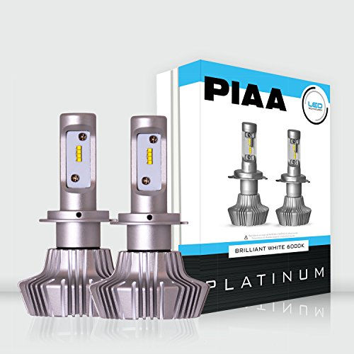 PIAA 26-17307 White H7 Platinum LED Bulb Twin Pack (6000K H7 4000Lm , 6000K, (Infinite Twin Pack)