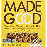 MadeGood Granola Bars-Chocolate Banana, 24g, Pack of 5