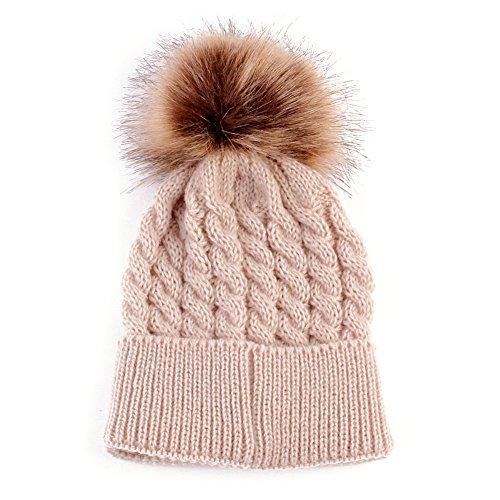 MIOIM Winter Knitted Pompom Bobble