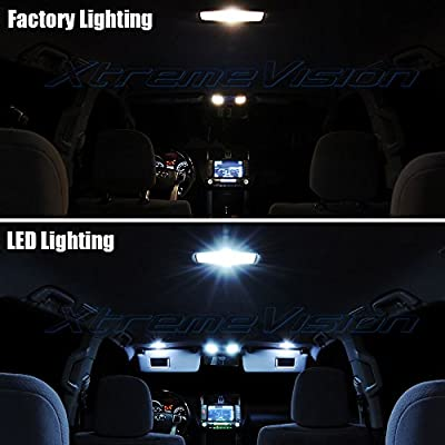 Xtremevision Interior Led For Jeep Wrangler Jk 2007 2015 5 Pieces Cool White Interior Led Kit Installation Tool