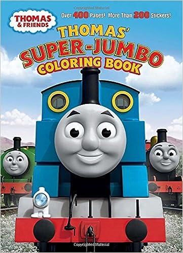 thomas super jumbo coloring book thomas friends rev w awdry golden books 9780307931184 books amazonca - Jumbo Coloring Book