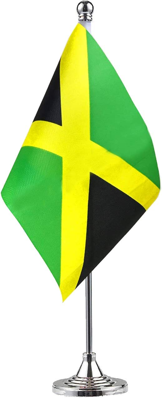 GentleGirl Jamaica Jamaican Table Flag,Desk Flag,Office Flag,International World Country Flags Banners,Festival Events Celebration,Office Decoration,Desk,Home Decoration