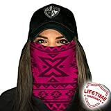 Face Shields for Women! SA CO Official Salt Armour Headbands (Aztec | Dark Pink)