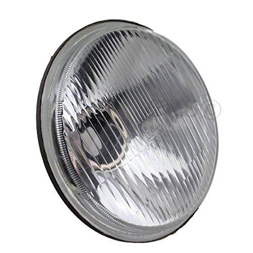 "JC Performance 5-3/4"" Round H4 Conversion Powder Coated Headlight Diamond Replace H5001 & H5006 (Single, Black)"