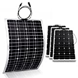 Genssi 4x 100W Mono Flexible Photovoltaic PV Solar Panel Module RV Boat Roof 400W Total
