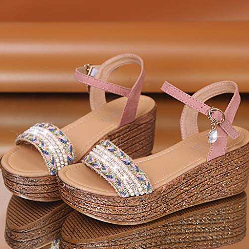 Cristal Compensé Et Plateforme Chaussures Rose Compensés Talons À Mode Sunnywill Ouvert Féminine Hauts La Sandales En Bout BFwgMA