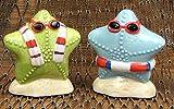 Salt Pepper Shaker Set Starfish Figurine Ceramic Kitchen Dinning Set Condiments Sea Nautical Ornament Display Figures Accent