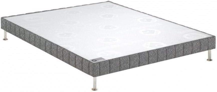 Bultex somier Doble tapicería (Confort Granja Gris Franela 2 ...