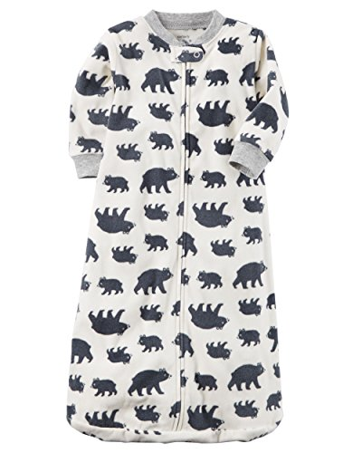 Carter's Unisex Baby Fleece Sleepbag Sleepsuit, Bears, Medium 6-9 Months