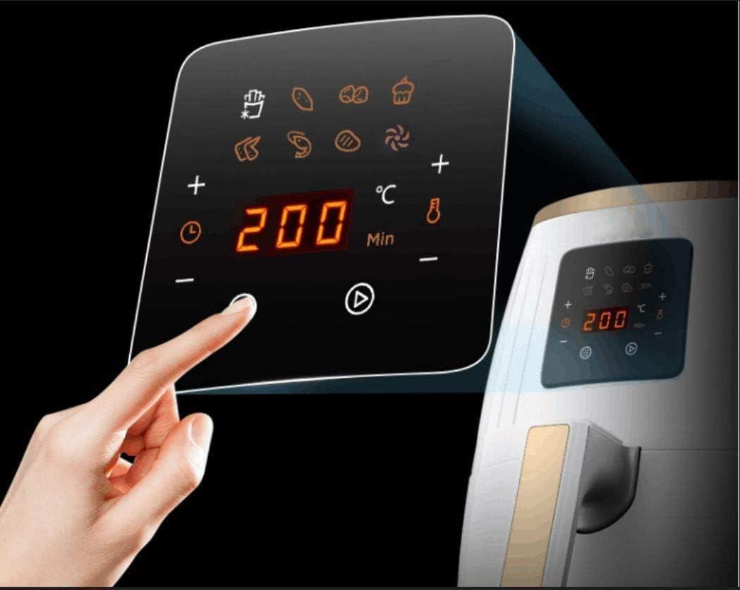 Hausliebe LF1 Airfryer - Freidora de aire caliente (1500 W, pantalla digital, sin aceite, fácil de usar y limpiar, para 2 o 3 personas, 3,5 litros), ...