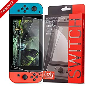 Best Epic Trends 51aZMisaGfL._SS300_ Orzly Glass Screen Protectors compatible with Nintendo Switch - Premium Tempered Glass Screen Protector TWIN PACK [2x…