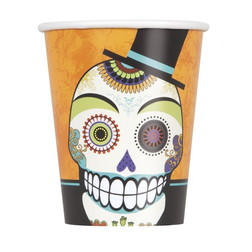 9oz Day of the Dead Halloween Party Cups, 8ct -