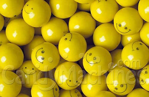 Gumballs By The Pound - 5 Pound Bag of Smiley Face]()