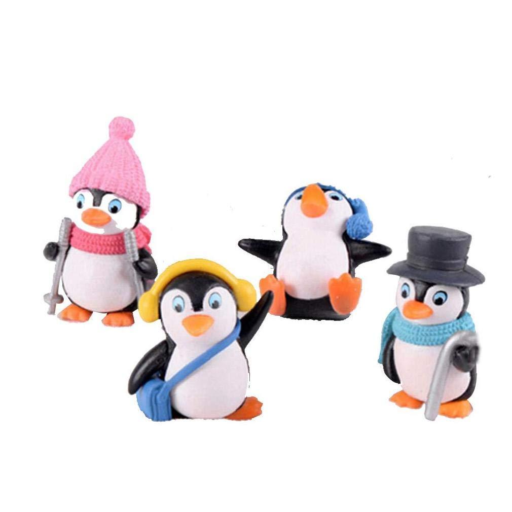 wwzEITpV Miniatura 4pcs del Ping/üino del Invierno Bricolaje Juguete Figuras De Hadas Ornamentos del Jard/ín Juguetes para Ni/ños