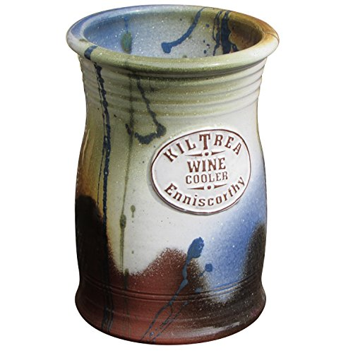 Handmade Pottery Wine Cooler Made From Blended Hand-Thrown Hand-Glazed Irish Clay. Measures 7.5 Inches in Height and Keeps One Standard Bottle Chilled