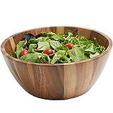 Woodard & Charles Acacia Wood Salad Bowl, 12-Inch