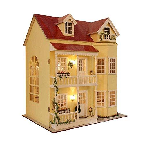 大型DIY木製おもちゃハウスキットセット家具LEDライト音楽ボックス   B07C3KSZ9T