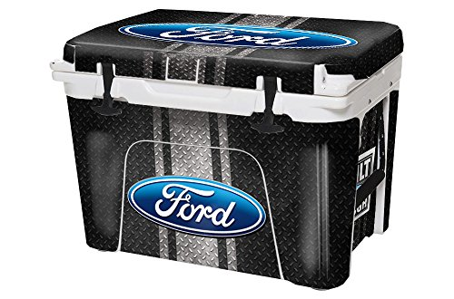 USA Tuff Thickest & Toughest Wrap 24Mil Cooler Decal Skin for YETI 45QT Tundra Full Kit - Ford Black Diamond by USA Tuff
