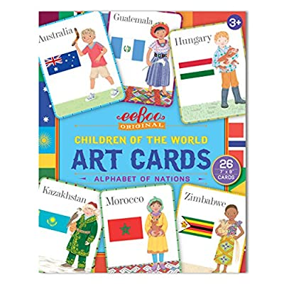eeBoo Alphabet Art Flash Cards for Toddlers, Children of the World: Toys & Games