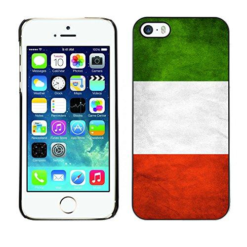 Omega Case PC Polycarbonate Cas Coque Drapeau - Apple iPhone 5 / 5S ( Italy Grunge Flag )