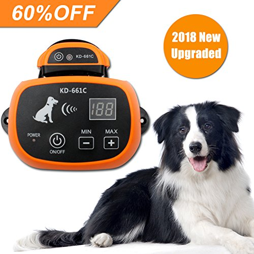 Depps Wireless Dog Containment System with Rechargeable Transmitter and Rechargeable Collar Receiver - Safe & Easy Install WiFi Radio Electric Dog Fence (One Dog System Orange)