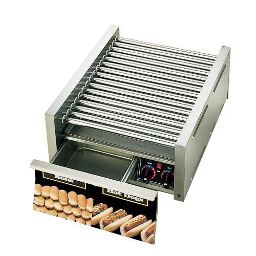 Star - 45CBD - Grill-Max 45 Hot Dog Roller Grill with Bun Drawer