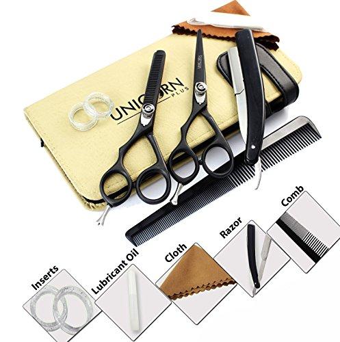 LEFT HANDED Professional Japanese Steel Hair Scissors Set 5.5