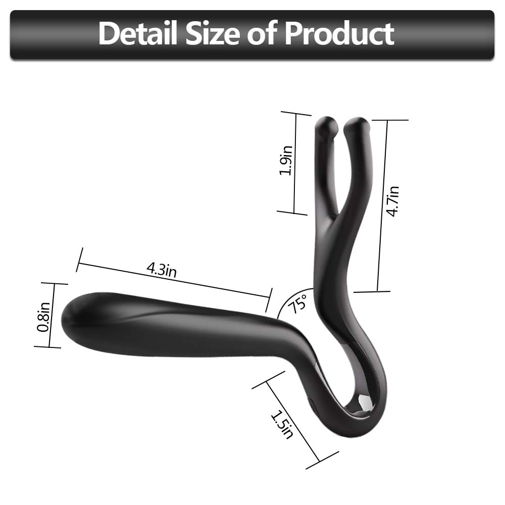 Orlupo Wiggle-Motion Dual Motors Vibrating Anal Vibrator for Men with Remote Control, Heating Anal Vibrators Butt Plug Prostate Massager Stimulator, Adult Male Anal Sex Toys for Men Women and Couples