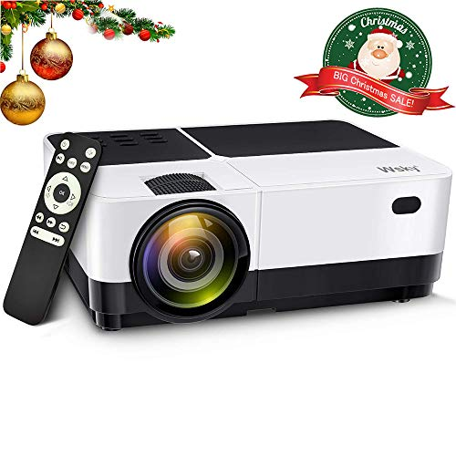 Low Voltage Mini Projector (Wsky Portable LCD Home Movie Projector - Best 2019 3000L Portable Home Theater HD Video Projector - Support 1080P 1920x1080 Resolution - Perfect for Watching Movies Home Entertainment or Gift Giving!)