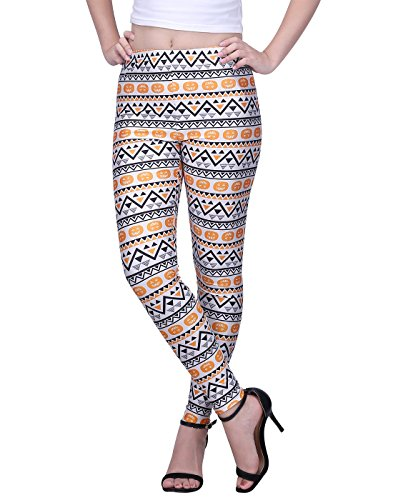 HDE Pumpkin Print Leggings for Women - Manufacturer Closeout - Design Yoga Pants -